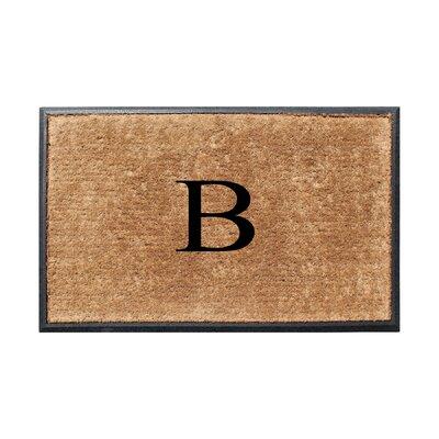 Fooks Molded Double Monogrammed Doormat Letter: B