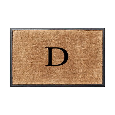Fooks Molded Double Monogrammed Doormat Letter: D