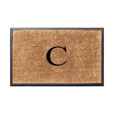 Fooks Molded Double Monogrammed Doormat Letter: C