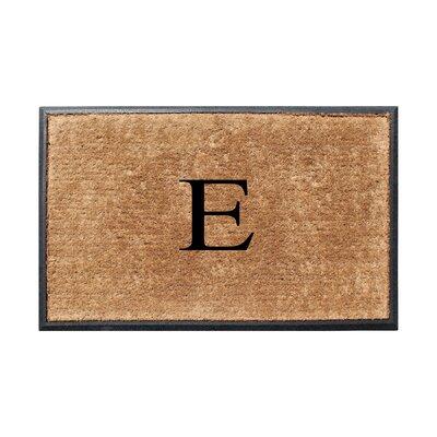 Fooks Molded Double Monogrammed Doormat Letter: E