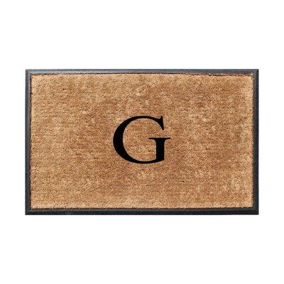 Fooks Molded Double Monogrammed Doormat Letter: G