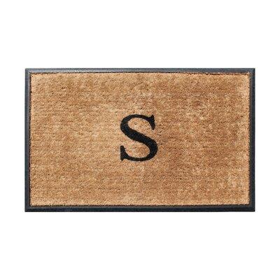 Fooks Molded Double Monogrammed Doormat Letter: S