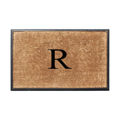 Fooks Molded Double Monogrammed Doormat Letter: R
