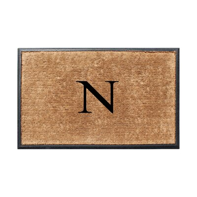 Fooks Molded Double Monogrammed Doormat Letter: N