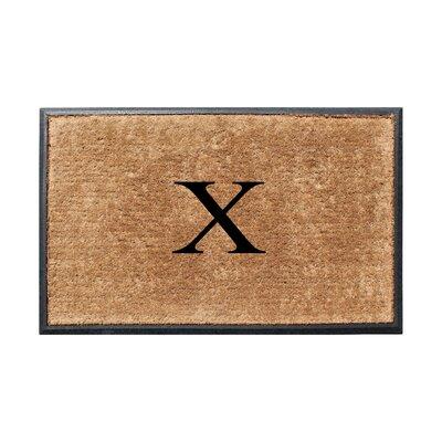 Fooks Molded Double Monogrammed Doormat Letter: X