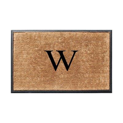 Fooks Molded Double Monogrammed Doormat Letter: W