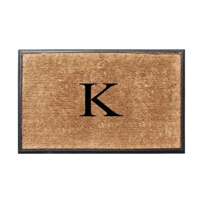 Fooks Molded Double Monogrammed Doormat Letter: K