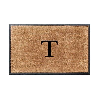 Fooks Molded Double Monogrammed Doormat Letter: T