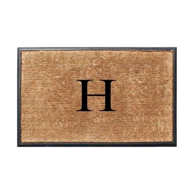 Fooks Molded Double Monogrammed Doormat Letter: H