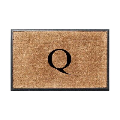 Fooks Molded Double Monogrammed Doormat Letter: Q