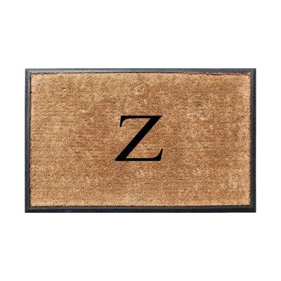 Fooks Molded Double Monogrammed Doormat Letter: Z