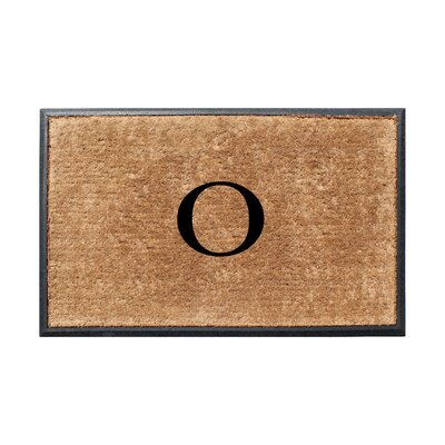 Fooks Molded Double Monogrammed Doormat Letter: O