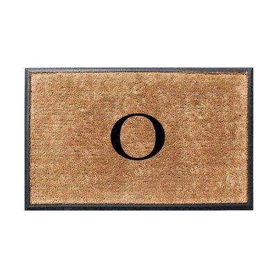 Fooks Molded Double Monogrammed Doormat Letter: O