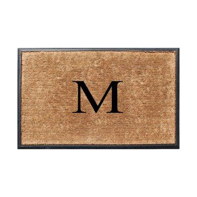Fooks Molded Double Monogrammed Doormat Letter: M