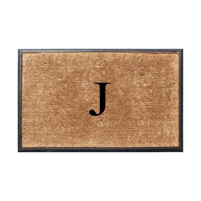 Fooks Molded Double Monogrammed Doormat Letter: J