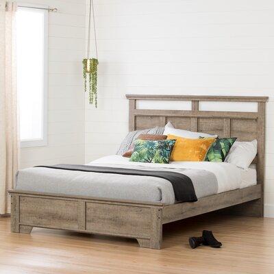 Versa Queen Platform Bed Color: Weathered Oak