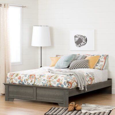 Versa Queen Platform Bed Color: Gray Maple