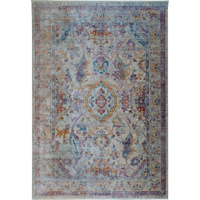 Artisan Bohemian Ivory/Gray Area Rug Rug Size: Rectangle 53 x 79