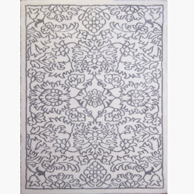 Henricks Ivory/Gray Area Rug Rug Size: Rectangle 22 x 39