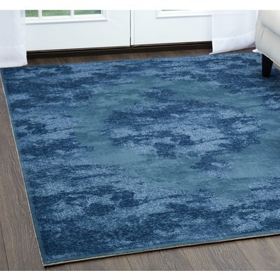 Kamen Blue Area Rug Rug Size: Rectangle 52 x 72