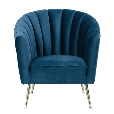 Hurwitz Barrel Chair Upholstery: Royal Blue