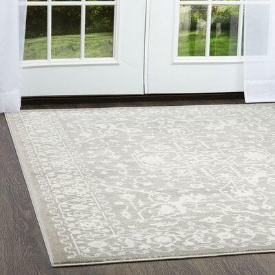 Henricks Gray Area Rug Rug Size: Rectangle 92 x 125