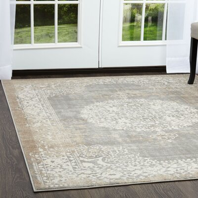 Gidley Gray Area Rug Rug Size: Rectangle 710 x 102