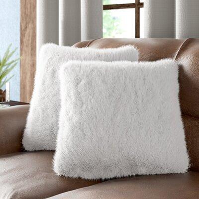 Sheba Faux Fur Throw Pillow Color: White