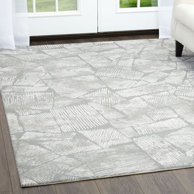 Rowe Gray Area Rug Rug Size: Rectangle 27 x 42
