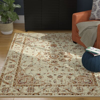Randolph Floral Beige Area Rug Rug Size: Runner 11 x 72