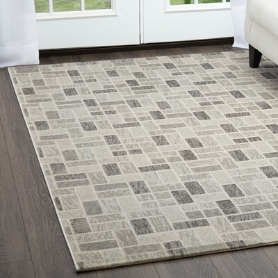 Hollman Bricks Gray Area Rug Rug Size: Rectangle 52 x 72