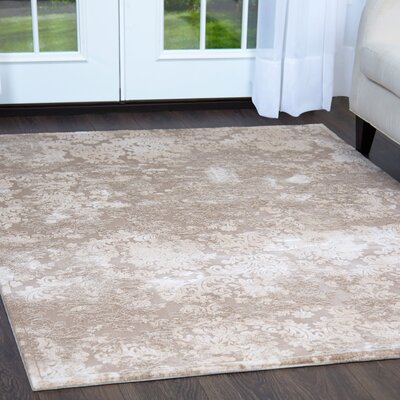 Vanetten Beige Area Rug Rug Size: Rectangle 92 x 125
