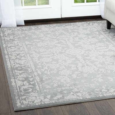Kamen Gray Area Rug Rug Size: Rectangle 710 x 102