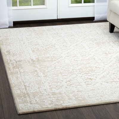 Jourdan Beige Area Rug Rug Size: Rectangle 52 x 72