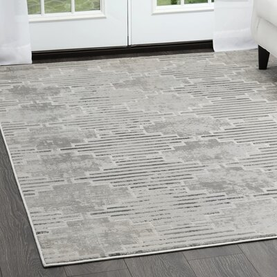 Blanton Geometric Gray Area Rug Rug Size: Rectangle 710 x 102