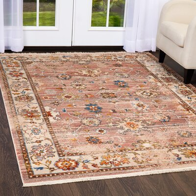 Kalish Faded Rust Area Rug Rug Size: Rectangle 27 x 42