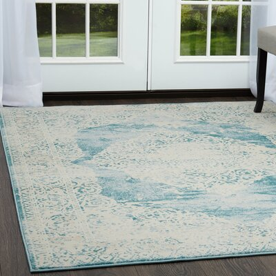 Ranson Arabesque Blue Area Rug Rug Size: Rectangle 710 x 102