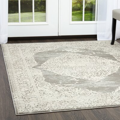 Ranson Gray Area Rug Rug Size: Rectangle 19 x 211