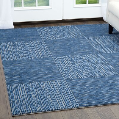 Henriksen Gray/Blue Area Rug Rug Size: Rectangle 710 x 102