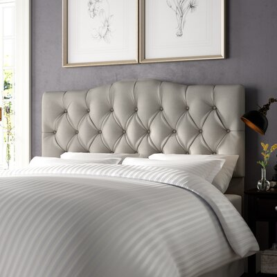 Cleveland Upholstered Panel Headboard Size: Full/Queen, Upholstery: Mossy Gray