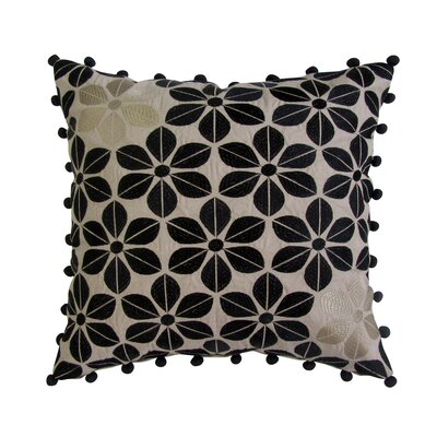 Galvin Embroidered Square Decorative Cotton Throw Pillow