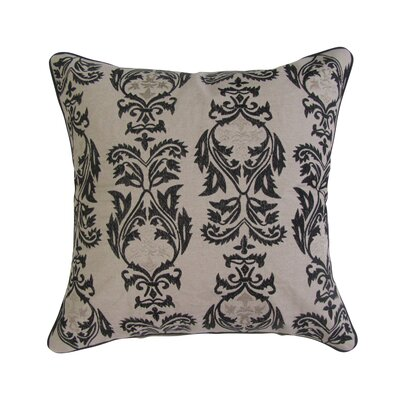 Nardone Embroidered Square Decorative Cotton Throw Pillow