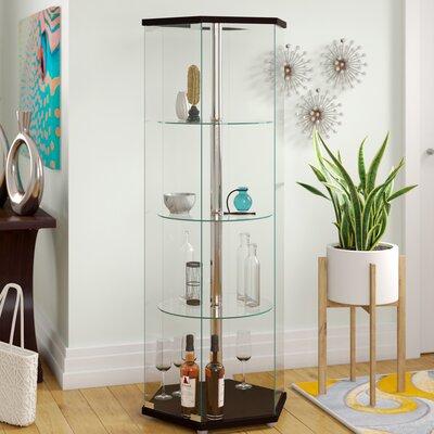 Randall Curio Cabinet Color: Black