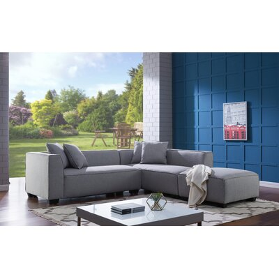 Jamarcus Modular Sectional with Ottoman Upholstery: Dove Gray