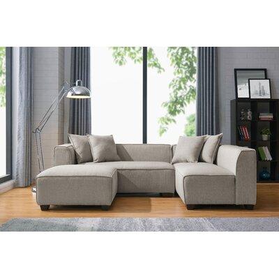 Jamarcus Modular Sectional with Ottoman Upholstery: Barley Tan