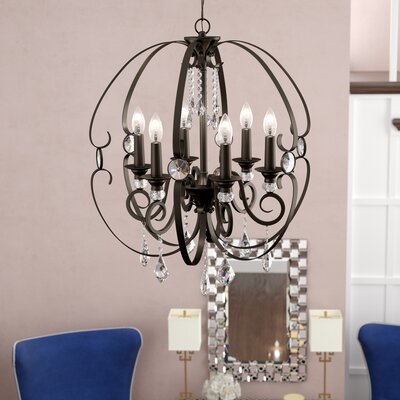 Hardouin 6-Light Foyer Pendant Finish: Brushed Bronze