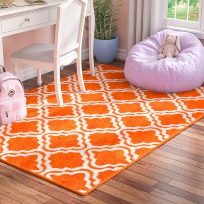 Juliet Calipso Orange Area Rug Rug Size: 5 x 7