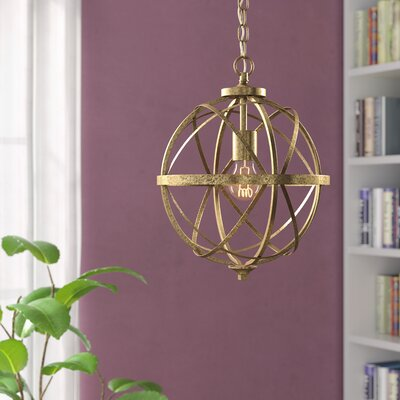 Tokai 1-Light Foyer Pendant Finish: Vintage Gold