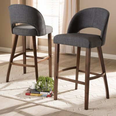 Vanbrugh 30.5 Bar Stool Upholstery: Dark Gray