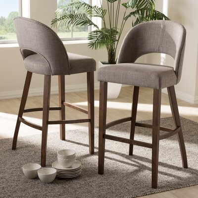 Vanbrugh 30.5 Bar Stool Upholstery: Gray